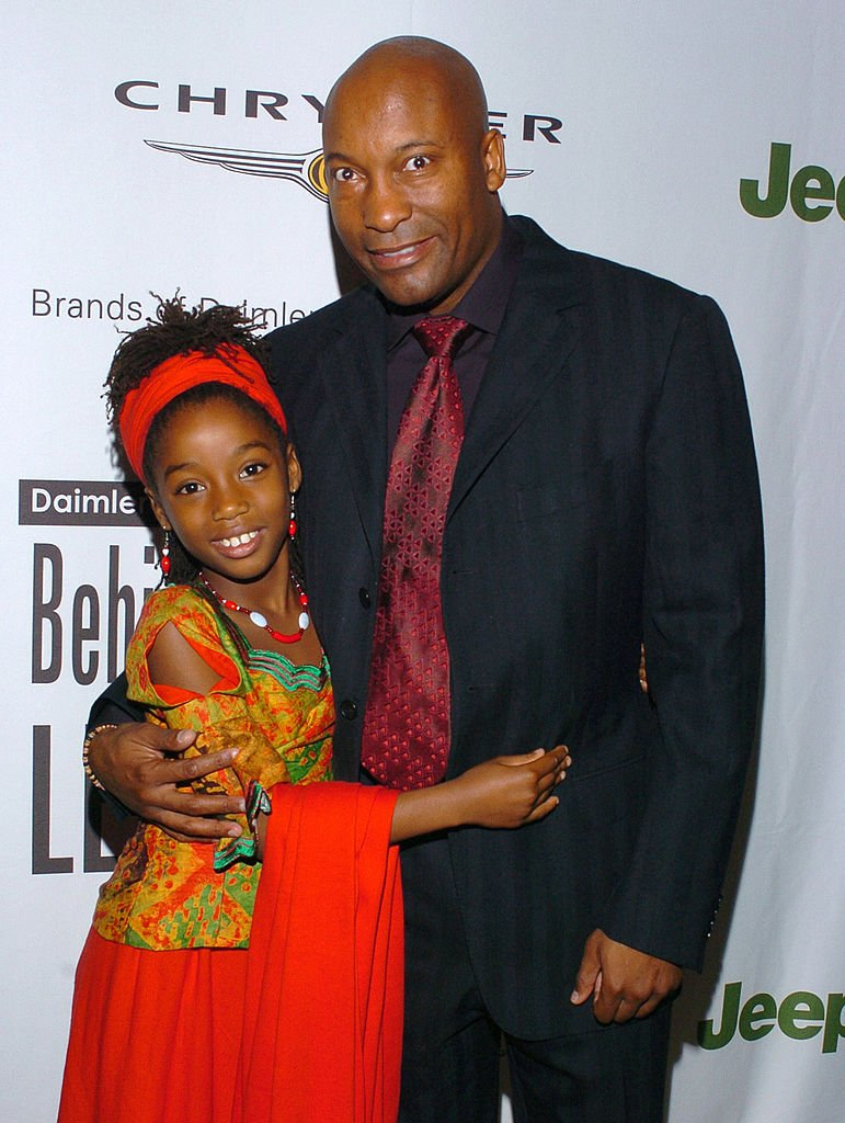 """John Singleton and Hadar Busia-Singleton at the 2005 DaimlerChrysler """"Behind The Lens"""" Awards at Beverly Hills Hotel   Source: Getty Images"""