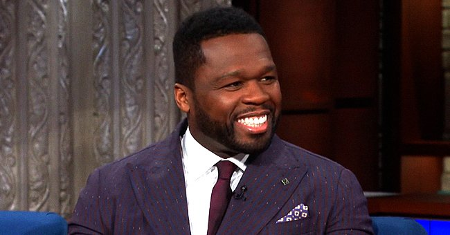 50 Cent Shares Cute Photos of His Son Sire Wearing Stylish PJs and a Silver Bowl on His Head