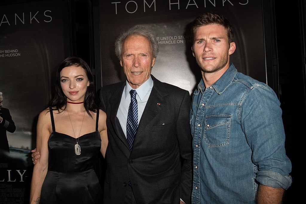 Francesca Eastwood, Clint Eastwood, and Scott Eastwood at the screening of Warner Bros. Pictures' 'Sully' at Directors Guild Of America on September 8, 2016 in Los Angeles, California | Photo: Getty Images