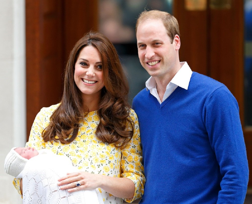 Catherine, Duchess of Cambridge and Prince William departing the Lindo Wing with their newborn daughter at St Mary's Hospital in London, England in May 2015. | Image: Getty Images