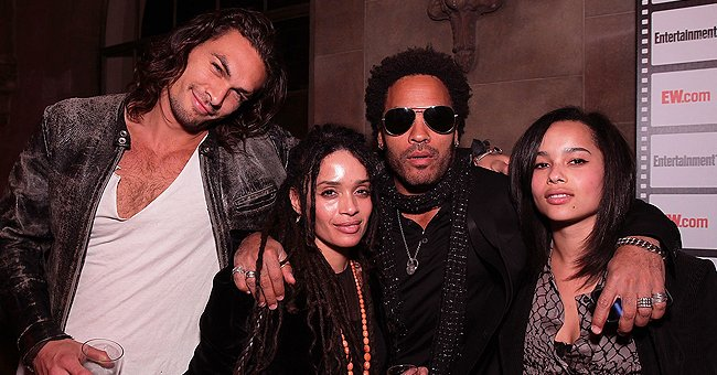 How Lenny Kravitz & Daughter Zoë Celebrated Lisa Bonet's Husband Jason Momoa's 41st Birthday