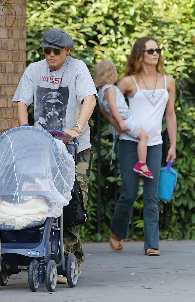 Johnny Depp & Vanessa Paradis with Lily-Rose and Jack Depp in London | Source: Getty Images