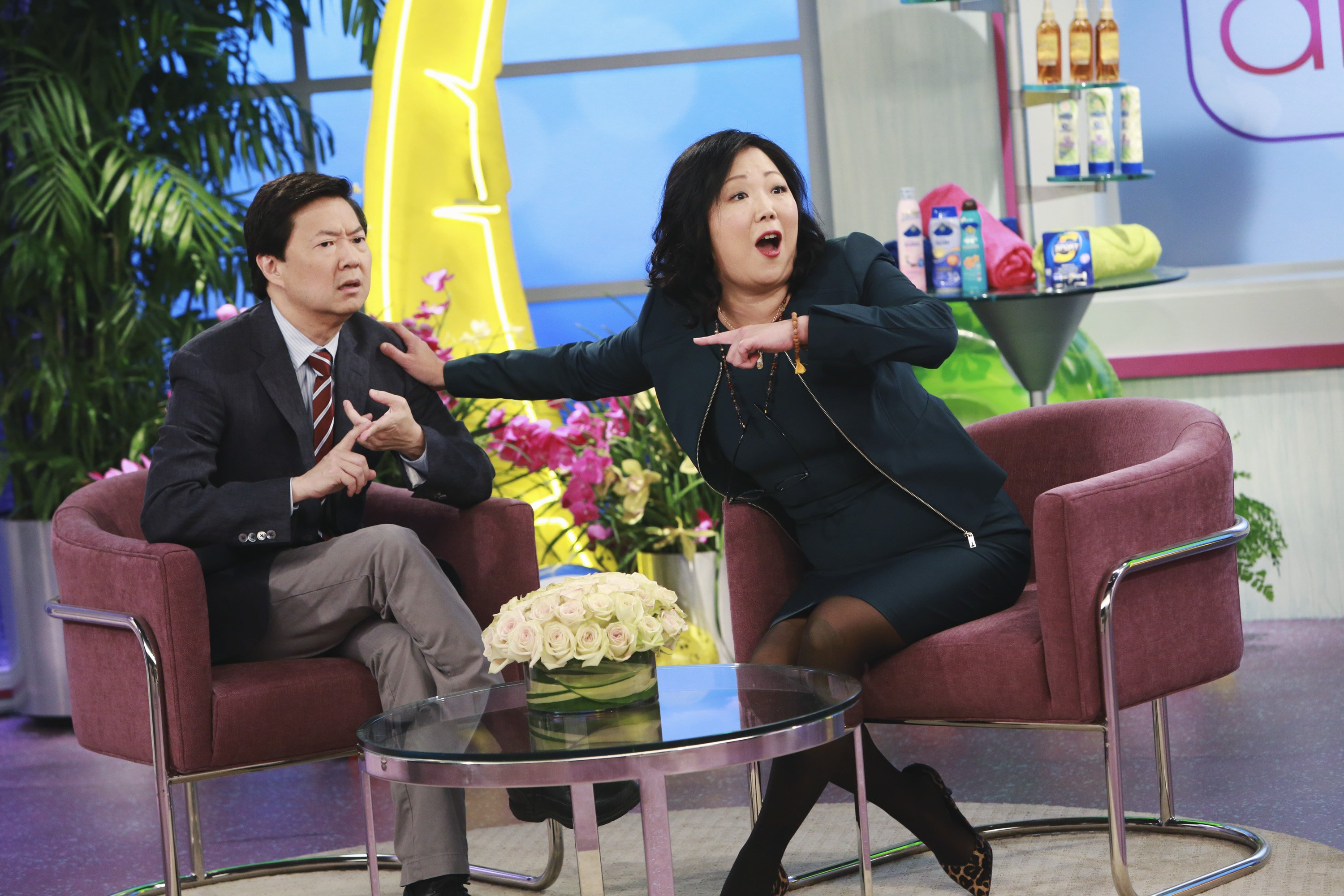 """Ken Jeong and Margaret Cho on """"Dr. Ken""""   Photo: Ron Tom/Disney General Entertainment Content via Getty Images"""