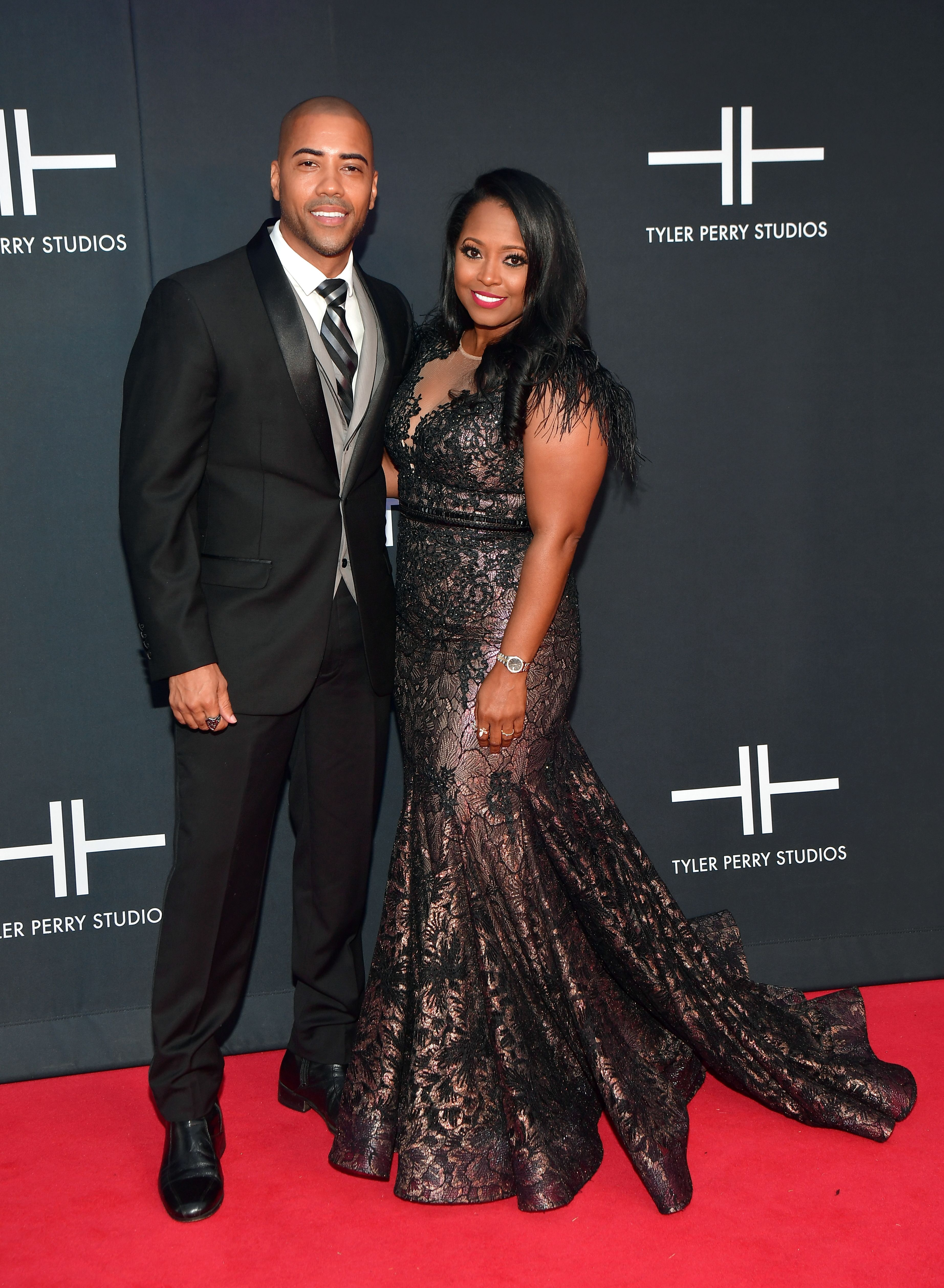 Brad James and Keshia Knight Pulliam during Tyler Perry Studios' Grand Opening Gala - Arrivals at Tyler Perry Studios on October 5, 2019 in Atlanta, Georgia. | Source: Getty Images