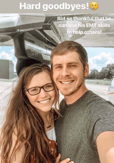 Joy-Ann Duggar says goodbye to Austin Forsyth, as he leaves to help with relief efforts in the Bahamas | Source: instagram.com/austinandjoyforsyth