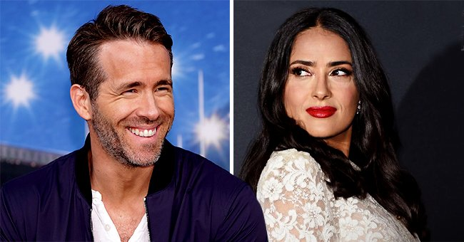 Salma Hayek Sticks Out Tongue Posing in Chic Black Top in Sweet B-Day Tribute to Ryan Reynolds