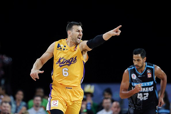 Andrew Bogut during the round eight NBL match between the New Zealand Breakers and the Sydney Kings at Spark Arena on December 09, 2018 in Auckland, New Zealand.   Photo: Getty Images