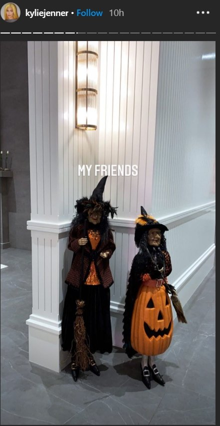 "Kylie Jenner's ""witch friends"" as shown on her Instagram Stories as she prepares for Halloween 2020. I Image: Instagram/ kyliejenner"