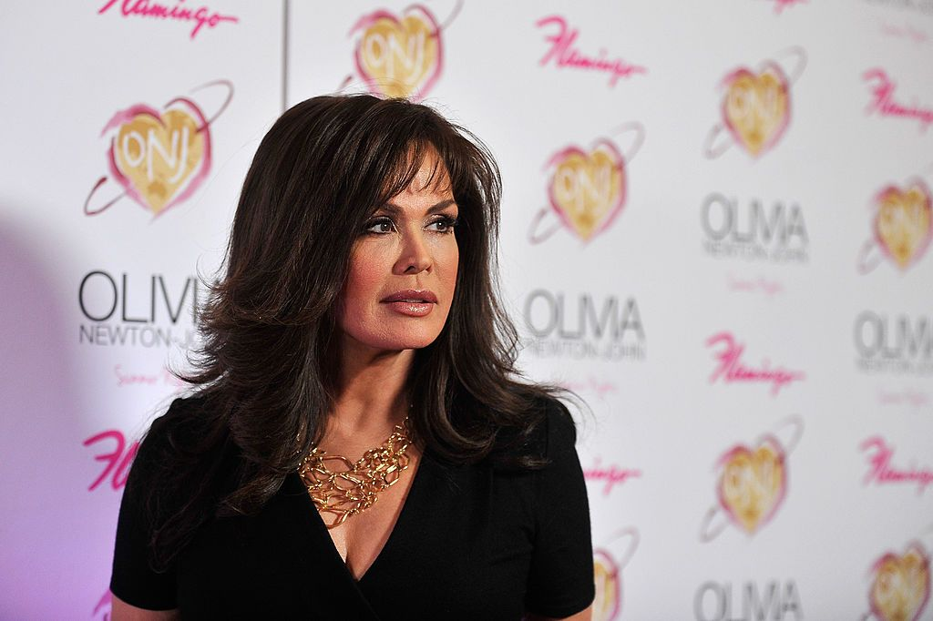 """Marie Osmond at the grand opening of Olivia Newton-John's residency show """"Summer Nights"""" on April 11, 2014, in Las Vegas, Nevada 