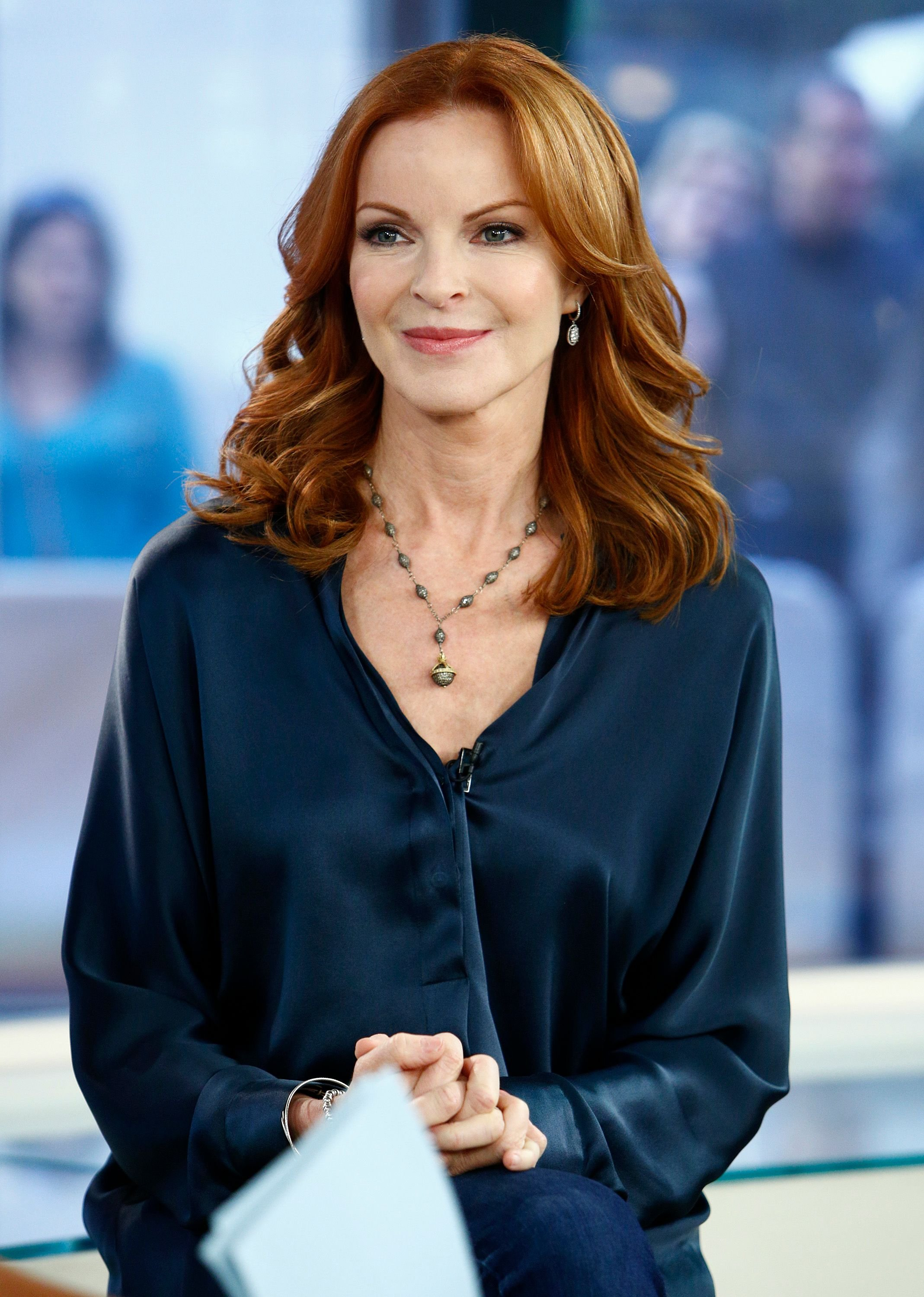 "Marcia Cross appears on NBC News' ""Today"" show, Season 61. 