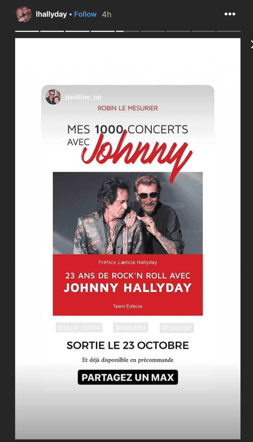 Johnny Hallyday et son guitariste. | Photo : lhallyday/Instagram