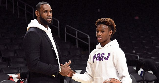 LeBron James Agrees with Comment That Son Bronny Actually Has a Better Jump Shot Than He Does