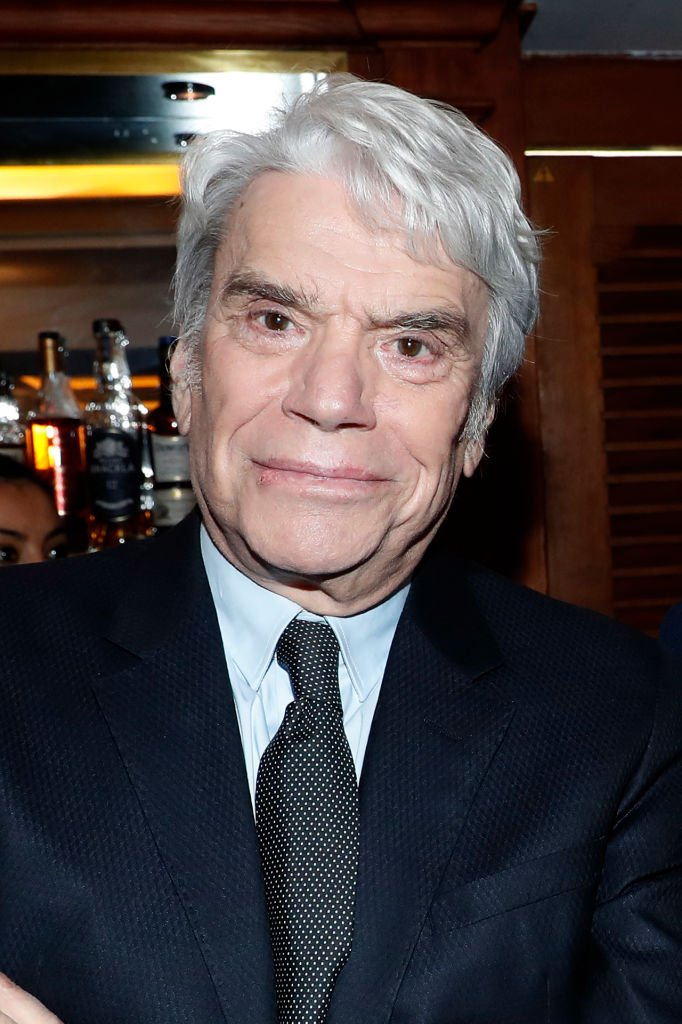 "L'homme d'affaires Bernard Tapie assiste à la cérémonie de remise des insignes d'Officier de la Légion d'honneur à Claude Lelouch au ""Club 13"" le 13 février 2019 à Paris. 