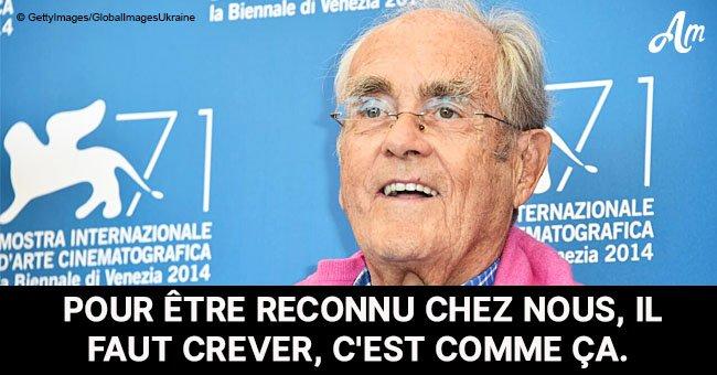 Frédéric Beigbeder a fait un discours touchant sur la perte de Michel Legrand