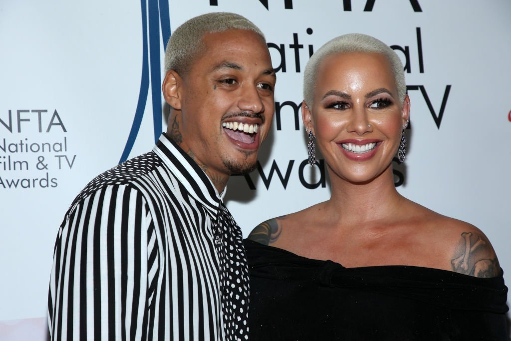 Amber Rose (R) and AE attend the National Film and Television Awards Ceremony at Globe Theatre | Photo: Getty Images