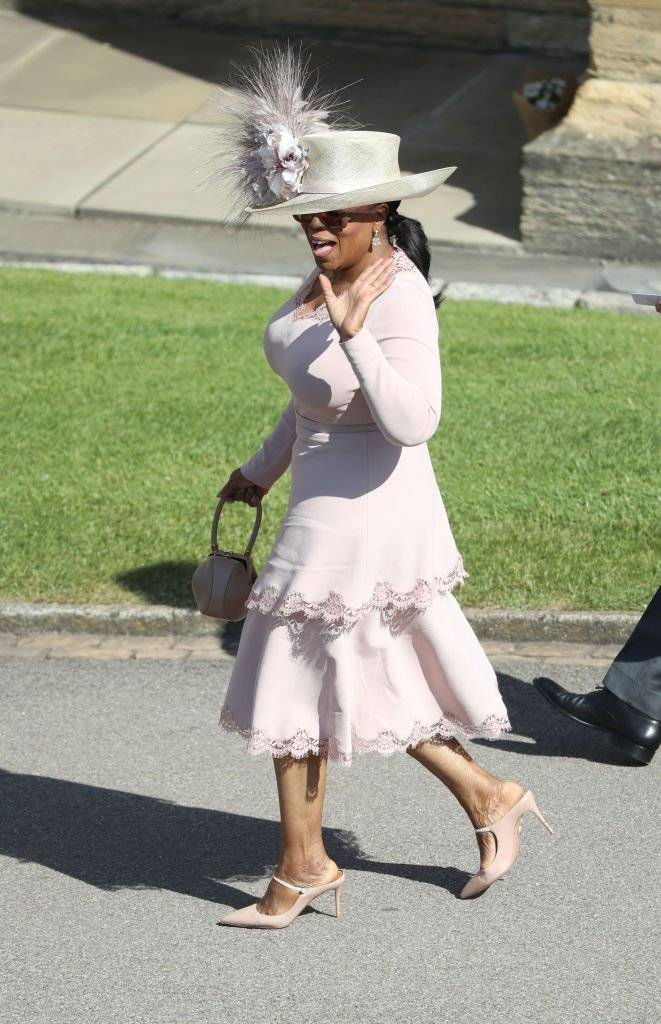 Oprah Winfrey attending the royal wedding of Meghan Markle and Prince Harry in May 2018 | Photo: Getty Images
