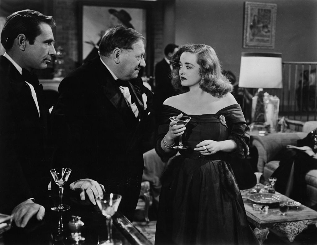 A scene from the film 'All About Eve', starring Gregory Ratoff, Gary Merrill  and Bette Davis   Photo: Getty Images