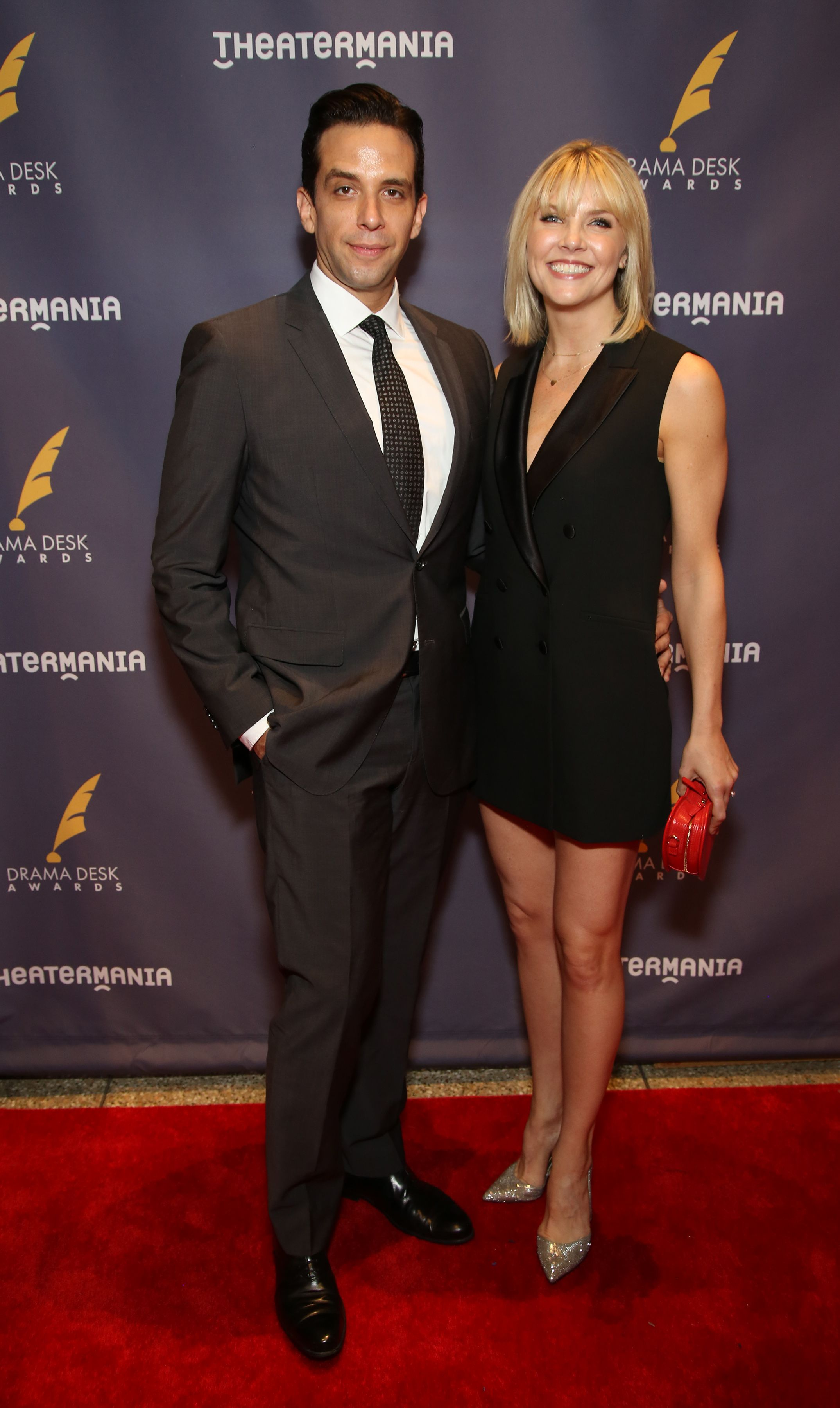 Nick Cordero and Amanda Kloots at the Drama Desk Awards at Town Hall on June 4, 2017 in New York City | Photo: Getty Images