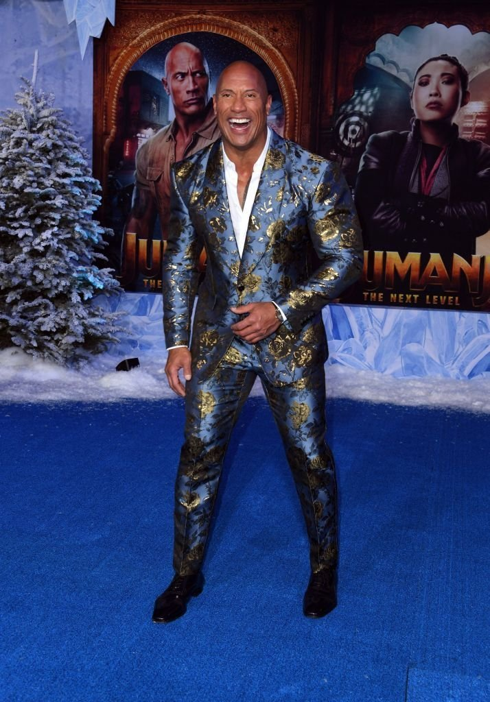 """Dwayne Johnson attends the premiere of Sony Pictures' """"Jumanji: The Next Level"""" at TCL Chinese Theatre 