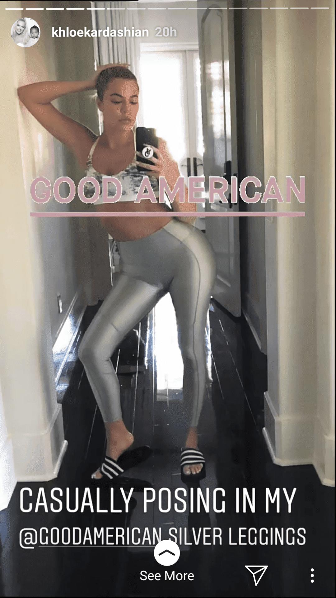 Khloé Kardashian affiche son corps tonique | Photo : instagram.com/khloekardashian
