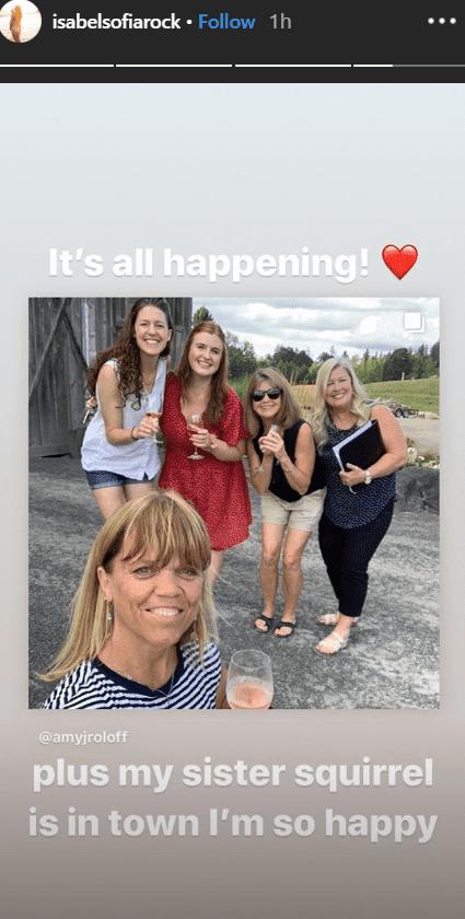 Screenshot of Isabel Rock's Instagram story of her wedding preparation. | Source: Instagram.com/Isabelsofiarock