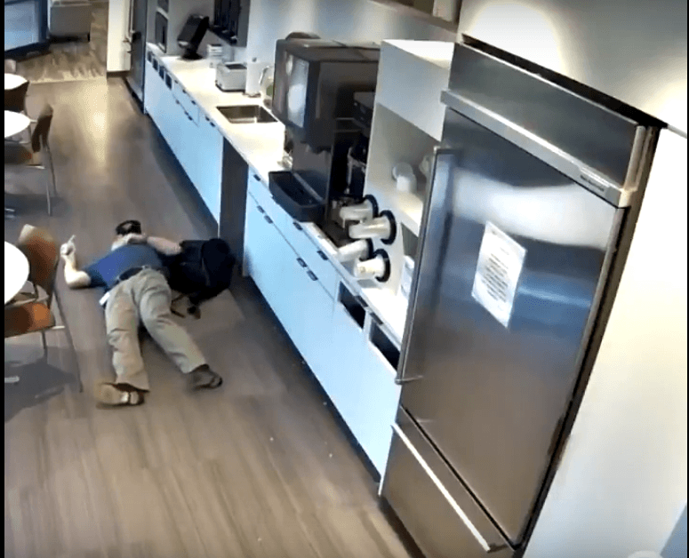 57-year-old NJ Man, Goldinsky fakes workplace fall for insurance claim at an unidentified Woodbridge company | Photo: YouTube