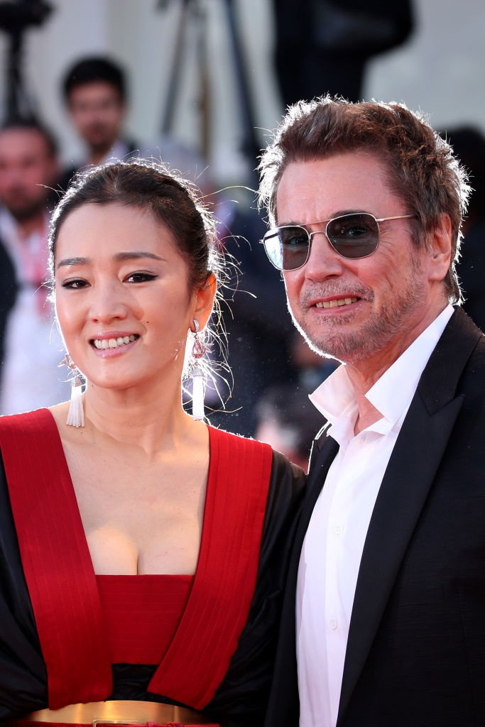 Gong Li et Jean-Michel Jarre le 4 septembre 2019 à Venise. l Source : Getty Images