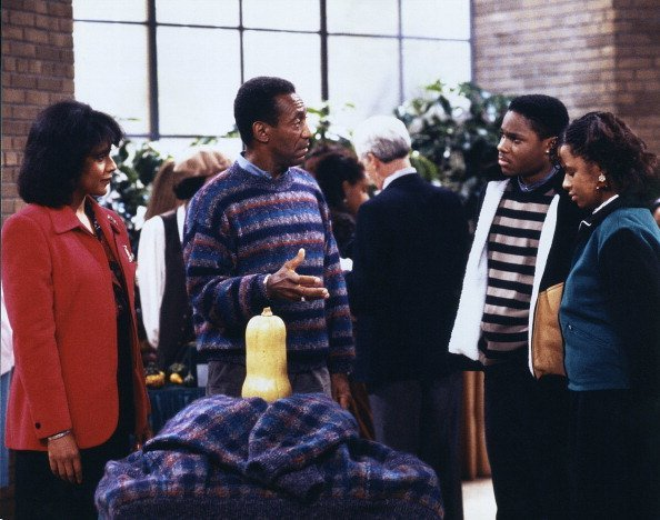 "Phylicia Rashad, Bill Cosby, Malcolm-Jamal Warner, Tempestt Bledsoe on ""The Cosby Show"" 