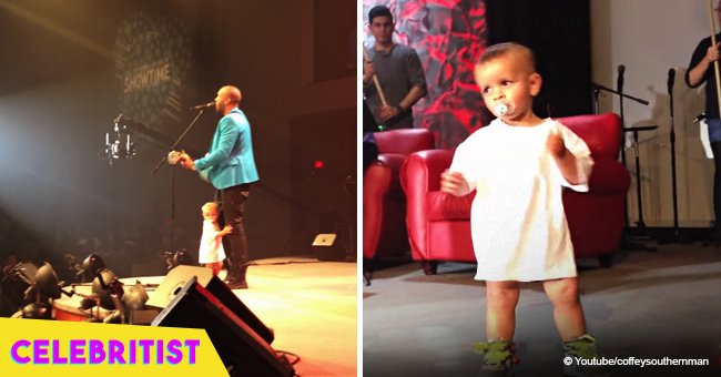 Baby who crashed dad's concert with his adorable moves still warms hearts in viral video