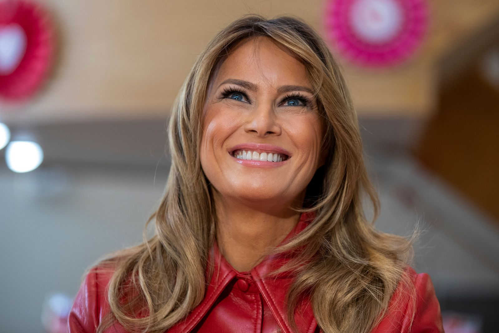 First Lady Melania Trump visits the Children's Inn at National Institutes of Health on February 14, 2020, in Bethesda, Maryland | Photo: Tasos Katopodis/Getty Images