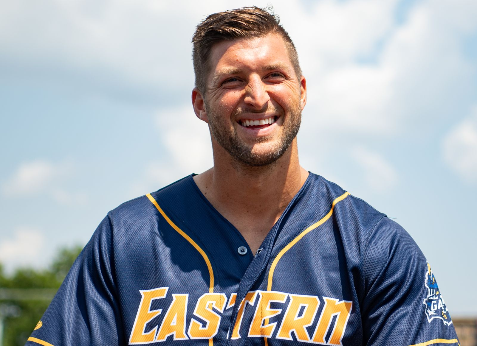 Tim Tebow before the 2018 Eastern League All Star Game at Arm & Hammer Park on July 11, 2018 | Getty Images