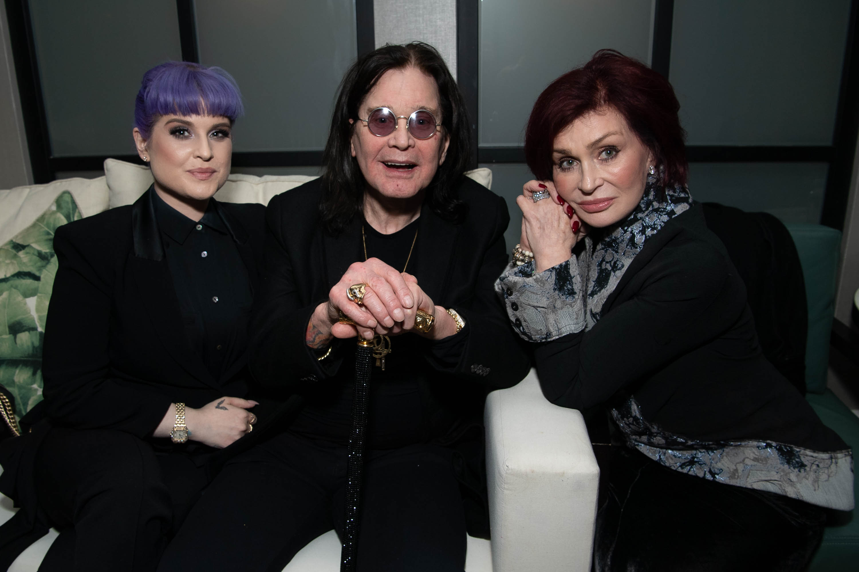 "Kelly Osbourne, Ozzy Osbourne and Sharon Osbourne attend the after party for the screening of  ""A Million Little Pieces"" on December 04, 2019, in West Hollywood, California. 