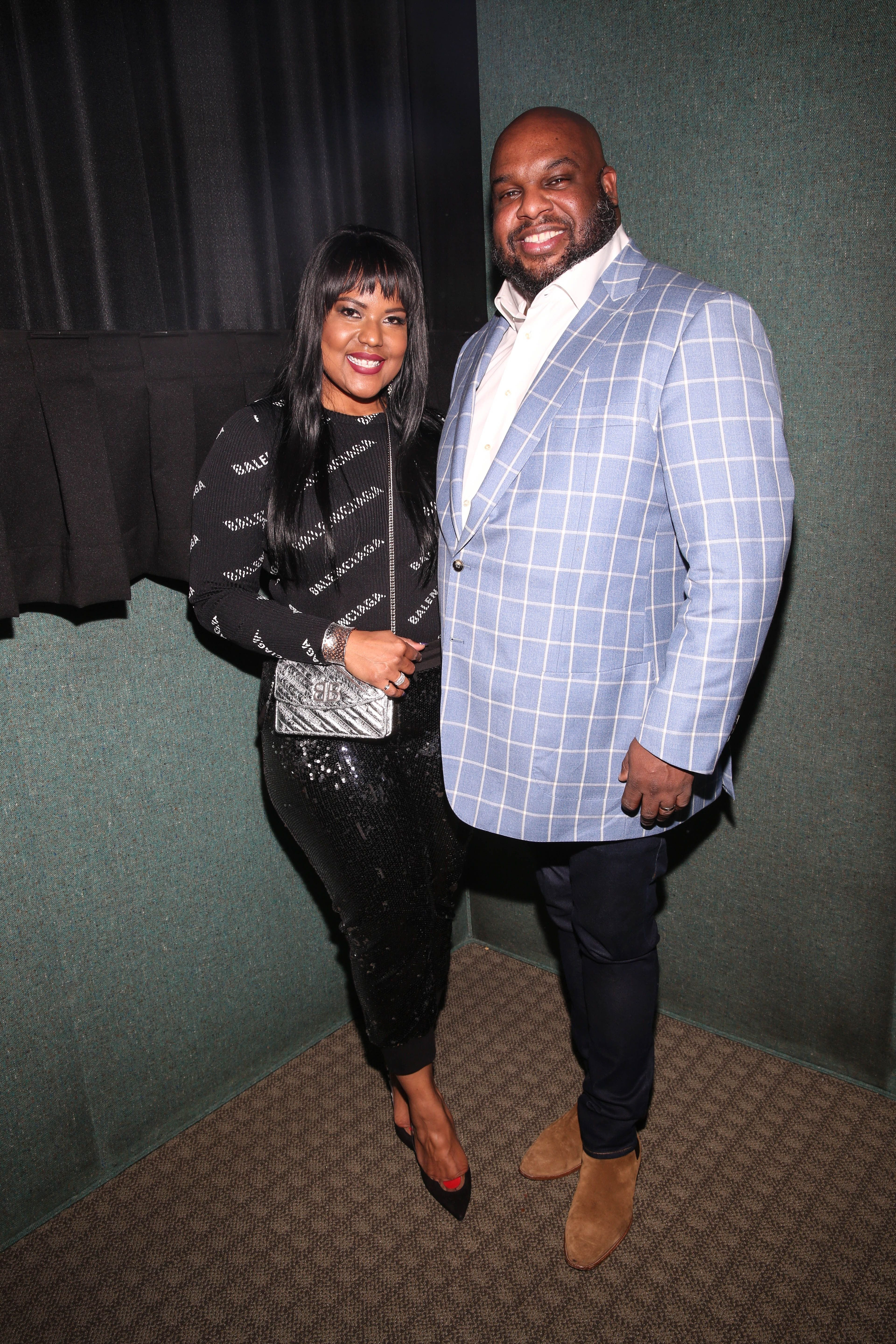 """Pastor John Gray and Aventer Gray during the NAACP Image Awards special screening of OWN's """"The Book of John Gray"""" at Raleigh Studios on January 11, 2019 in Los Angeles, California.   Source: Getty Images"""