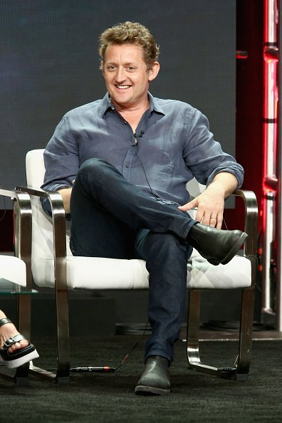 Actor Alex Winter of 'AMC Visionaries: Eli Roth's History of Horror' speaks onstage during the AMC Networks portion of the Summer 2018 TCA Press Tour at The Beverly Hilton Hotel on July 28, 2018, in Los Angeles, California. | Source: Getty Images.