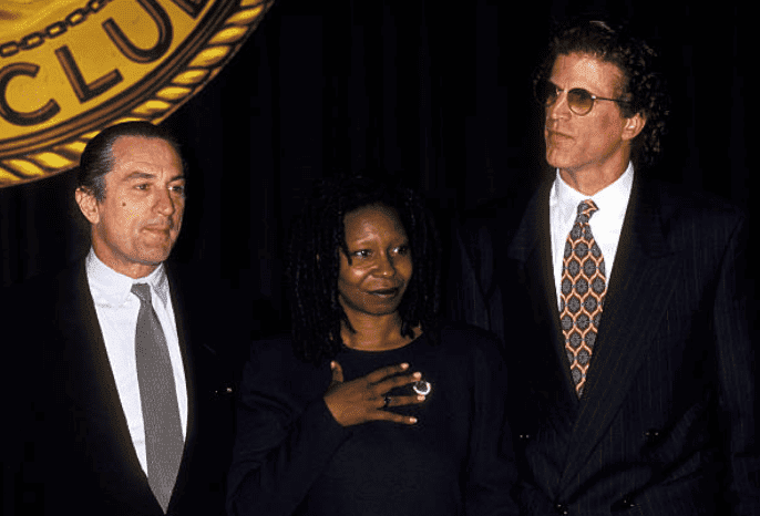 Robert DeNiro, Whoopi Goldberg and Ted Danson pose together, on October 8, 1993 | Source: Ron Galella/Ron Galella Collection via Getty Images