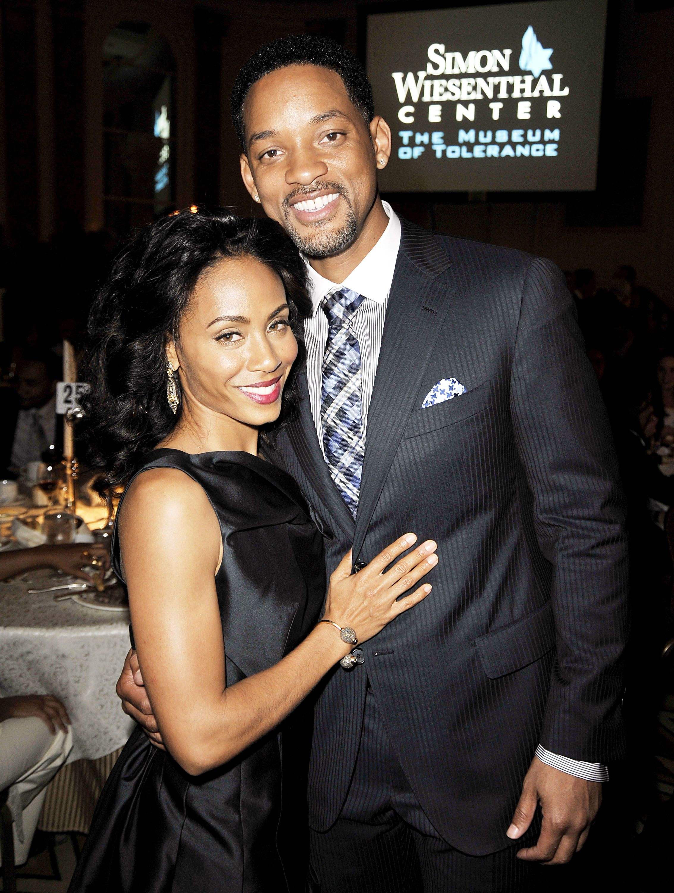 Will Smith and Jada Pinkett Smith at the Simon Wiesenthal Center's Annual National Tribute Dinner on May 5, 2009 in Beverly Hills, California | Photo: Getty Images