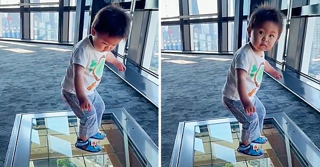 Watch This Toddler's Hilarious Reaction as He Steps onto a See-through Glass Floor