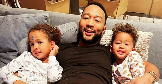 John Legend Hugs His Kids Luna & Miles in a New Family Photo — Do They Look like Triplets?