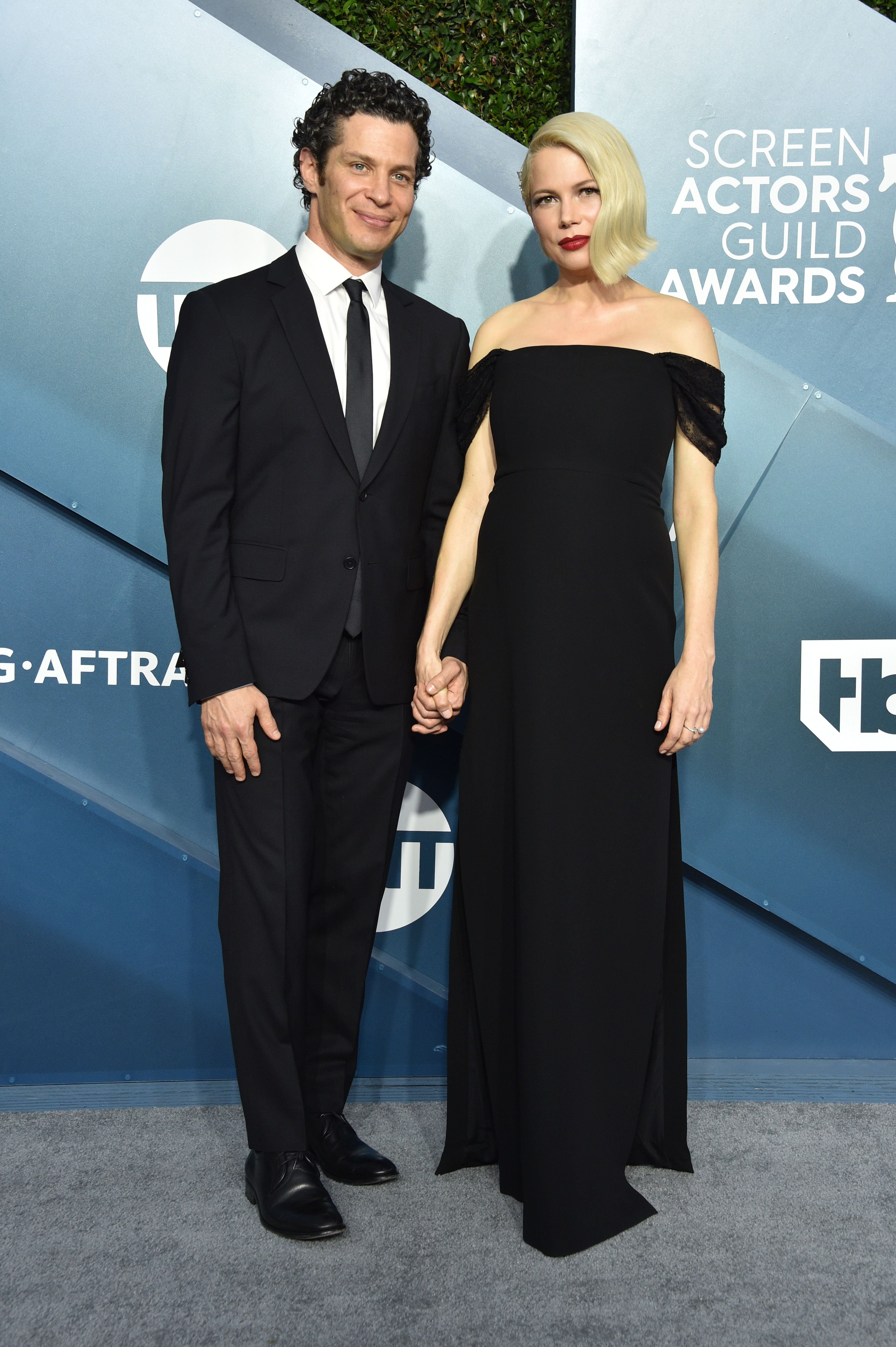 Thomas Kail and Michelle Williams at the 26th Annual Screen Actors Guild Awards at The Shrine Auditorium on January 19, 2020 in Los Angeles, California | Photo: Getty Images