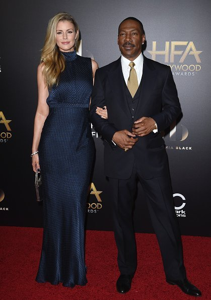 Eddie Murphy and Paige Butcher at the 20th Annual Hollywood Film Awards | Photo: Getty Images