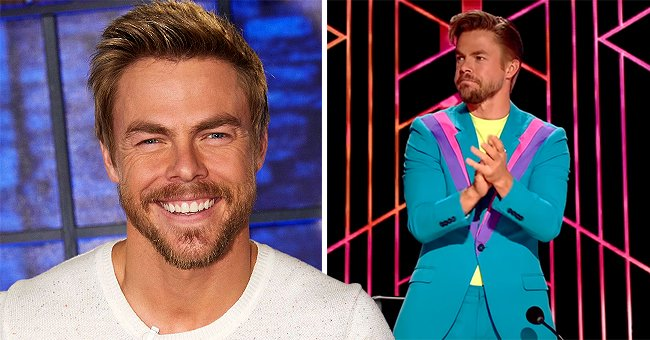 DWTS' Derek Hough Wows Fans with His Look on '80s Night — Does He Look like a Ken Doll?