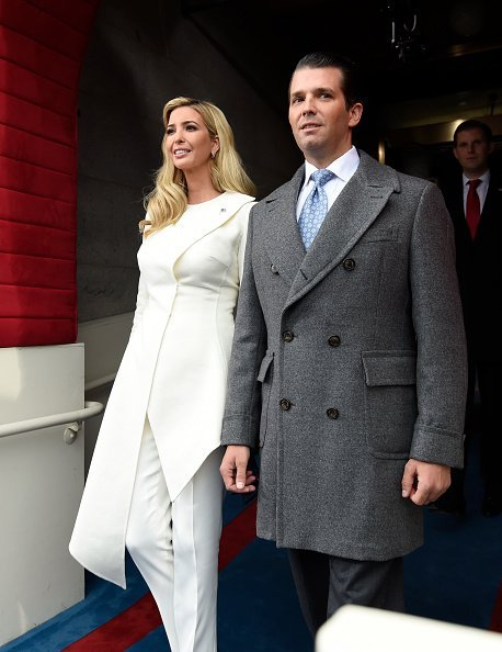 Donald Trump, Jr., and Ivanka Trump arrive for the Presidential Inauguration of their father Donald Trump at the US Capitol | Photo: Getty Images