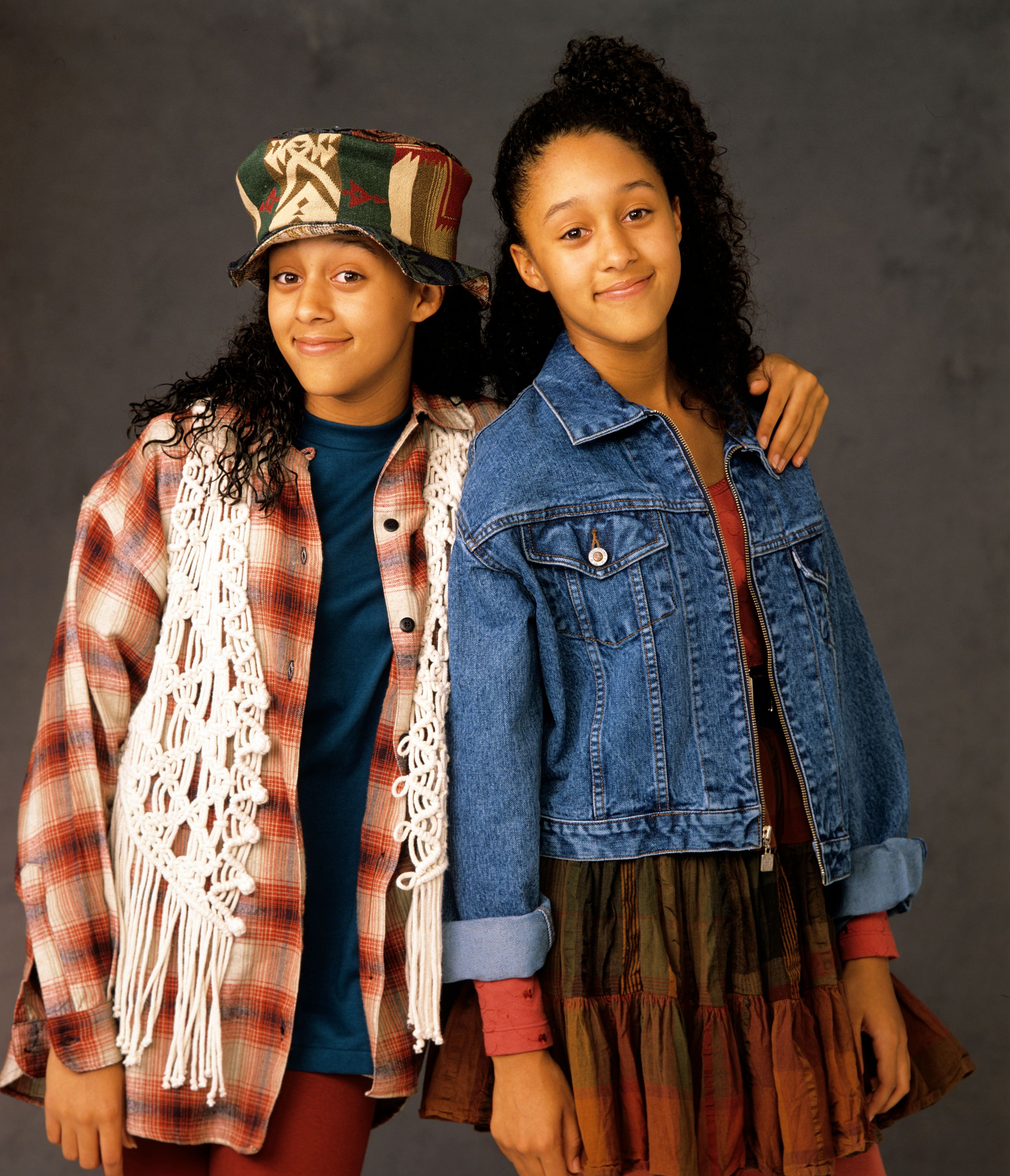 "Tia and Tamera Mowry poses for a promotional photo of ""Sister, Sister,"" October 6, 1993. 