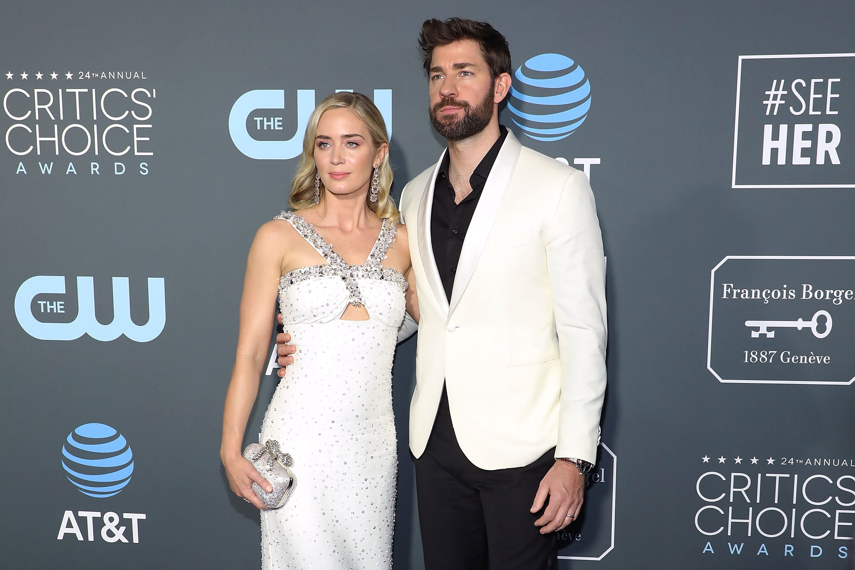 Emily Blunt and John Krasinski pictured at The 24th Annual Critics' Choice Awards, 2019, California. | Photo: Getty Images