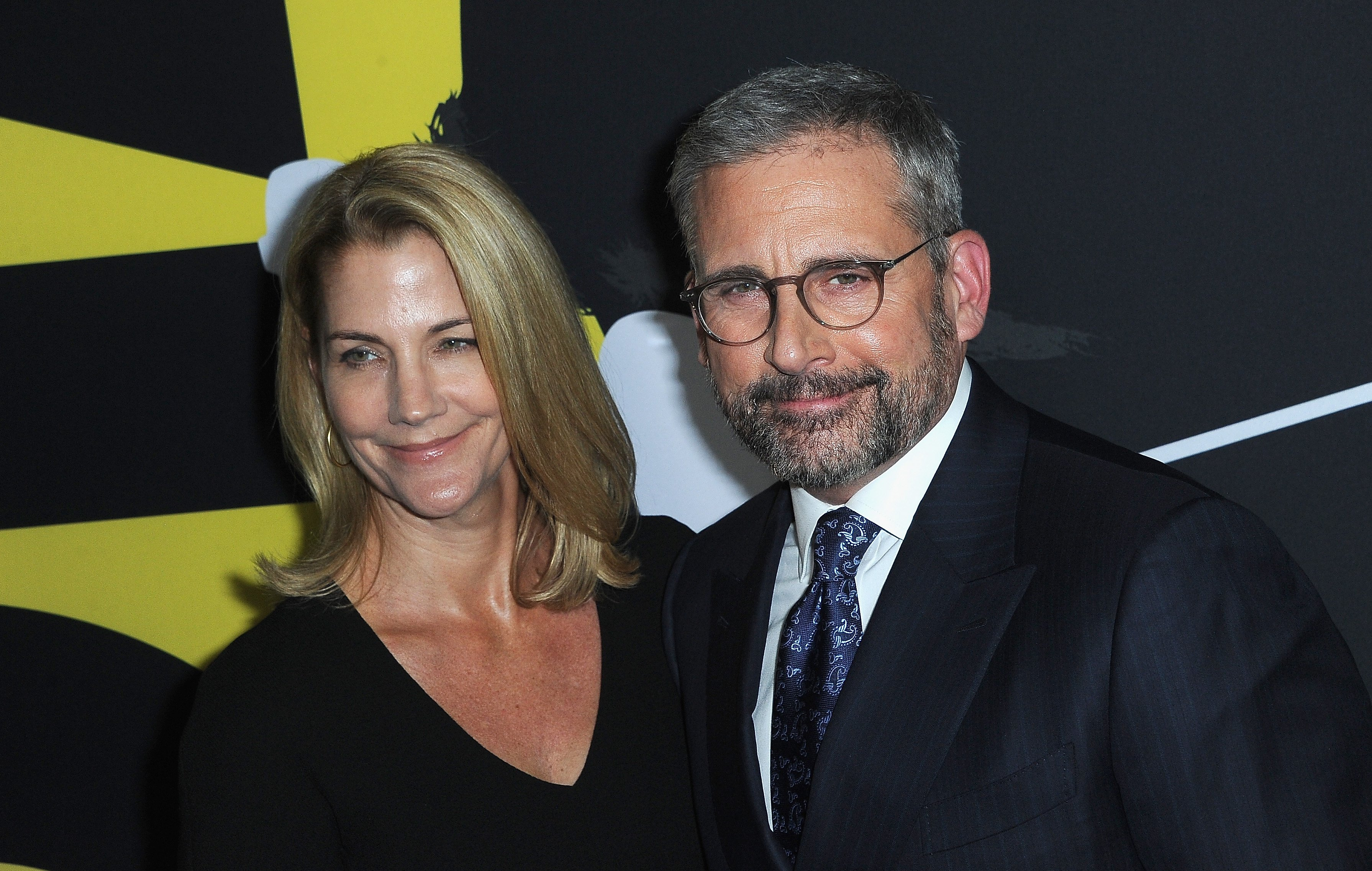 """Steve Carell and wife Nancy Carell at the World Premiere Of """"Vice"""" held at AMPAS Samuel Goldwyn Theater on December 11, 2018 in Beverly Hills, California 