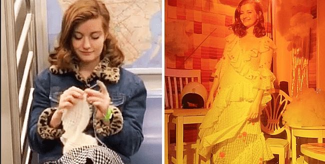 Bride Knit Her Own Wedding Dress in Nine Months on Her Way to Work on the Subway