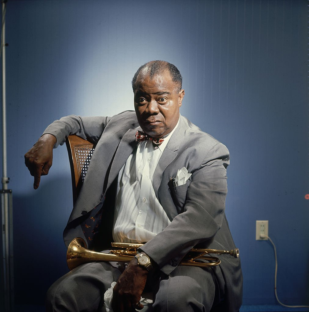 Portrait of American jazz musician Louis Armstrong, Atlantic City, New Jersey, 1965 | Photo: Getty Images