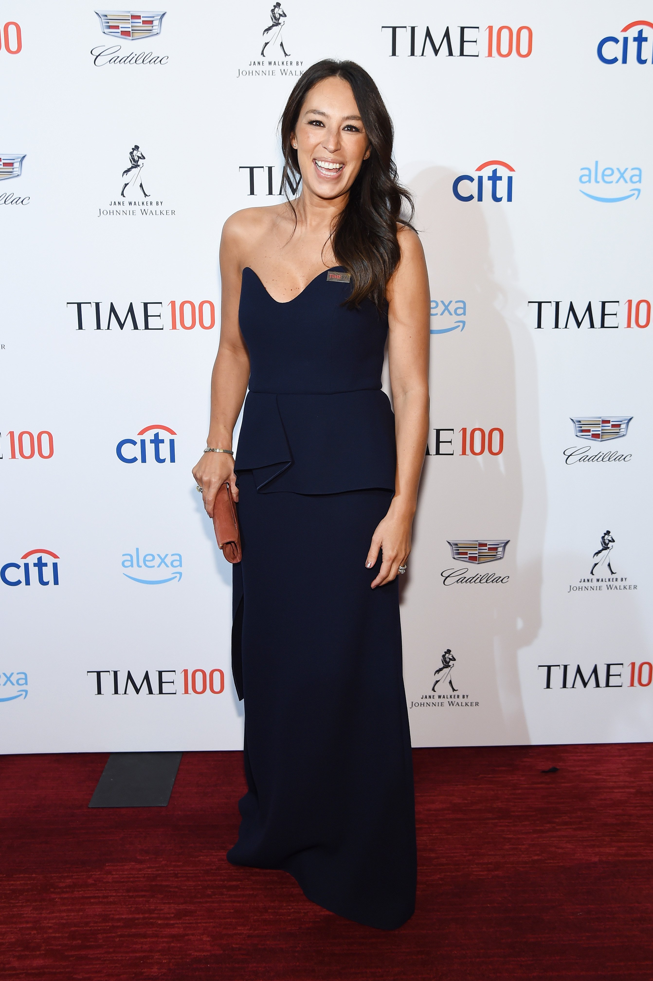Joanna Gaines attends the TIME 100 Gala 2019 Cocktails at Jazz at Lincoln Center on April 23, 2019, in New York City. | Source: Getty Images.