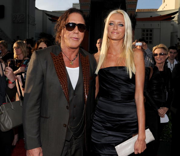 Mickey Rourke and Anastassija Makarenko at El Capitan Theatre on April 26, 2010 in Hollywood, California | Photo: Getty Images
