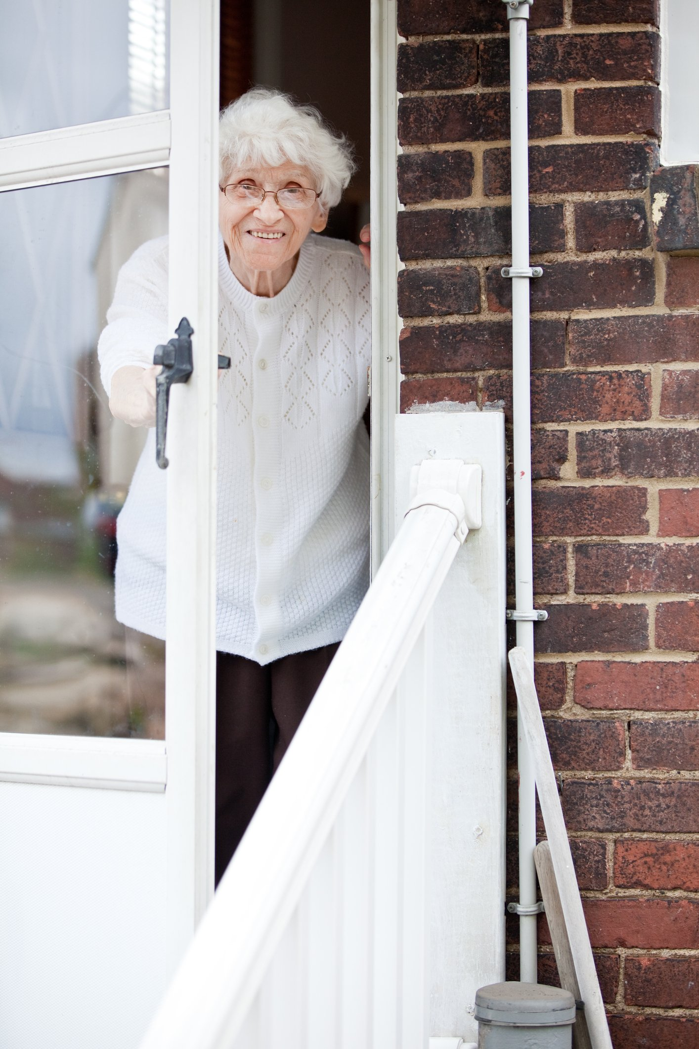 Mary opened her door to welcome Officer Stanton.   Photo: Getty Images